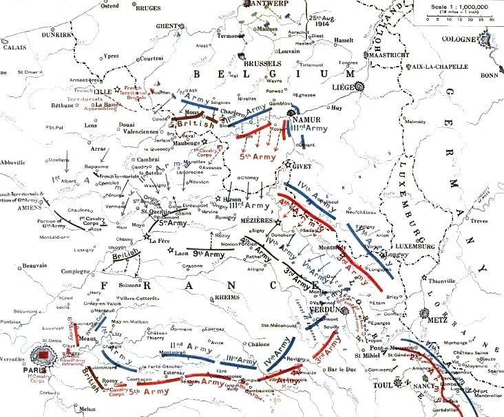German_and_Allied_positions,_23_August_-_5_September_1914